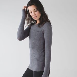 Lululemon Gray Swiftly Long Sleeve Top Shirt 4 S